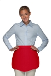 Style 130 Professional Two Pocket Scalloped Waist Aprons - Red