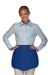 Style 130 Professional Two Pocket Scalloped Waist Aprons - Royal Blue