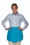 Style 130 Professional Two Pocket Scalloped Waist Aprons - Turquoise