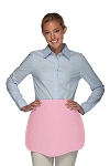 Style 130R Professional Two Pocket Reversible Scalloped Waist Apron - Pink