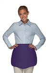 Style 130 Professional Two Pocket Scalloped Waist Aprons - Purple