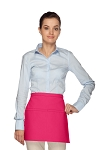 Style 140 Professional Two Pocket Squared Waist Aprons - Hot Pink