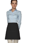 Style 180XL Professional Extra Large Three Pocket Rounded Waist Apron - Black