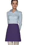 Style 180XL Professional Extra Large Three Pocket Rounded Waist Apron - Purple