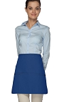 Style 180XL Professional Extra Large Three Pocket Rounded Waist Apron - Royal Blue