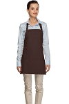 Style 200 High Quality Professional Three Pocket Bib Aprons - Brown