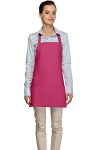 Style 200 High Quality Professional Three Pocket Bib Aprons - Hot Pink