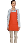 Style 200 High Quality Professional Three Pocket Bib Aprons - Orange