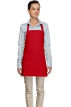 Style 200 High Quality Professional Three Pocket Bib Aprons - Red