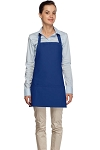 Style 200 High Quality Professional Three Pocket Bib Aprons - Royal Blue