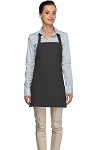 Style 200 High Quality Professional Three Pocket Bib Aprons - Charcoal Gray