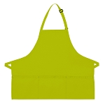 Style 200 High Quality Professional Three Pocket Bib Aprons - Lime