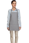 Style 200 High Quality Professional Three Pocket Bib Aprons - Silver Gray
