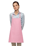Style 200NP High Quality Professional No Pocket Bib Aprons - Pink
