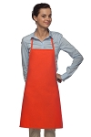 Style 205 Professional Small No Pocket Cover-Up Bib Apron - Orange