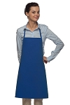 Style 205 Professional Small No Pocket Cover-Up Bib Apron - Royal Blue