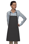 Style 205 Professional Small No Pocket Cover-Up Bib Apron - Charcoal Gray