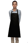 Style 210 Professional Adjustable Neck No Pocket Bib Apron - Black