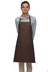 Style 210 Professional Adjustable Neck No Pocket Bib Apron - Brown