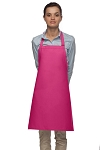 Style 210 Professional Adjustable Neck No Pocket Bib Apron - Hot Pink