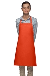 Style 210 Professional Adjustable Neck No Pocket Bib Apron - Orange