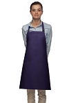 Style 210 Professional Adjustable Neck No Pocket Bib Apron - Purple
