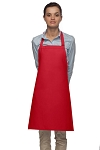 Style 210 Professional Adjustable Neck No Pocket Bib Apron - Red