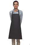 Style 210 Professional Adjustable Neck No Pocket Bib Apron - Charcoal Gray