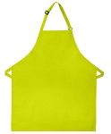 Style 210 Professional Adjustable Neck No Pocket Bib Apron - Lime