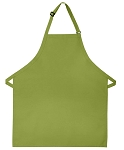 210 Professional Adjustable Neck No Pocket Bib Apron - Sage