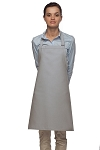 Style 210 Professional Adjustable Neck No Pocket Bib Apron - Silver Gray