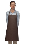 Style 211 Professional Pencil Pocket Bib Apron - Brown