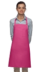 Style 211 Professional Pencil Pocket Bib Apron - Hot Pink