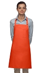 Style 211 Professional Pencil Pocket Bib Apron - Orange