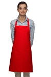 Style 211 Professional Pencil Pocket Bib Apron - Red