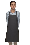 Style 211 Professional Pencil Pocket Bib Apron - Charcoal Gray