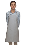 Style 211 Professional Pencil Pocket Bib Apron - Silver Gray