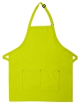 Style 212 Professional Bib w/ Center Divided Pocket Apron - Lime