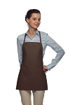 Style 215 EXTRA SMALL Professional Promo Two Pocket Bib Apron - Brown