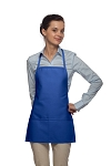 Style 215 EXTRA SMALL Professional Promo Two Pocket Bib Apron - Royal Blue