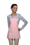 Style 215 EXTRA SMALL Professional Promo Two Pocket Bib Apron - Pink