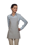 Style 215 EXTRA SMALL Professional Promo Two Pocket Bib Apron - Silver Gray