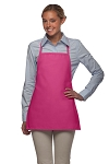 Style 215NP Professional Extra Small No Pocket Bib Aprons - Hot Pink