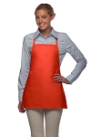 Style 215NP Professional Extra Small No Pocket Bib Aprons - Orange