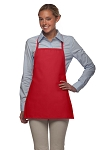 Style 215NP Professional Extra Small No Pocket Bib Aprons - Red