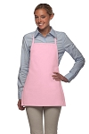 Style 215NP Professional Extra Small No Pocket Bib Aprons - Pink