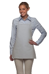 Style 215NP Professional Extra Small No Pocket Bib Aprons - Silver Gray