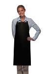 Style 220 High Quality Professional Center-Divided Pocket Butcher Apron - Black
