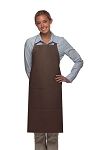 Style 220 High Quality Professional Center-Divided Pocket Butcher Apron - Brown