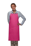 Style 220 High Quality Professional Center-Divided Pocket Butcher Apron - Hot Pink